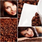 Kaffeecollage lizenzfreies stockbild