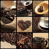 Kaffeecollage Lizenzfreie Stockbilder