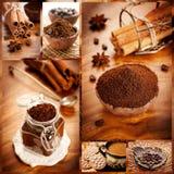 Kaffeecollage Stockfotografie