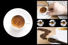 Kaffeecollage Lizenzfreie Stockfotografie