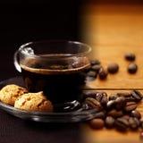 Kaffeecollage Lizenzfreies Stockfoto