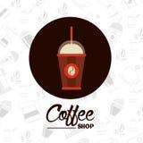 Kaffeedesign Stockfoto