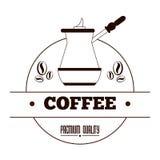 Kaffeedesign Stockfotografie