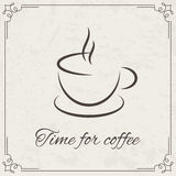 Kaffeedesign für Menü Stockfotografie