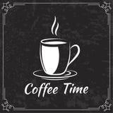 Kaffeedesign für Menü Stockbilder