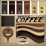 Kaffeedesignfahnen Stockbild