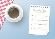 Kaffeedesignschablone Stockbild