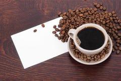 Kaffeeeinladung Stockfoto