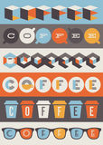 Kaffeeembleme. Satz Gestaltungselemente Stockbilder