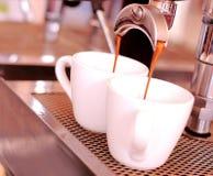 Kaffeeespressohintergrund Stockbilder