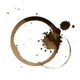 Kaffeefleck Stockfotos