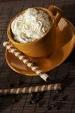 kaffeefterrätt arkivbild