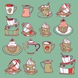 kaffeefterrätter Royaltyfri Fotografi