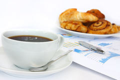 Kaffeegeschäftsfrühstück Lizenzfreie Stockfotos
