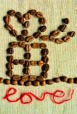 Kaffeegeschenk mit Liebe Stockfotografie