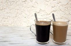 Kaffeegläser Stockbild