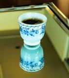 Kaffeeglas Stockfotos