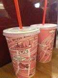 Kaffeeglasrosa lizenzfreies stockbild