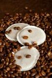 Kaffeehülsen Stockfotos
