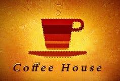 Kaffeehausmenüabdeckung Stockfotos