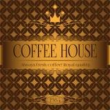 Kaffeehausmenüdesign Stockbild