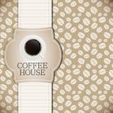Kaffeehausmenüschablonen-Vektorillustration Lizenzfreies Stockbild