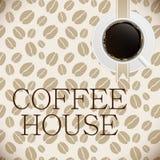 Kaffeehausmenüschablonen-Vektorillustration Lizenzfreie Stockbilder