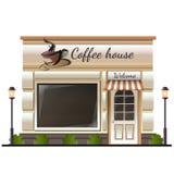 Kaffeehausspeicher gefärbt Lizenzfreies Stockfoto