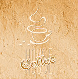 Kaffeehaussymbol Stockfotos