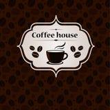 Kaffeehausweinlesefahnen-Designschablone Lizenzfreies Stockbild