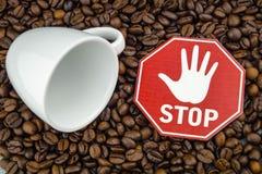 Kaffeeherz und -zirkulation lizenzfreies stockbild