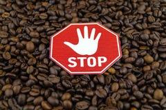 Kaffeeherz und -zirkulation stockfoto