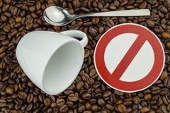 Kaffeeherz und -zirkulation lizenzfreie stockfotos