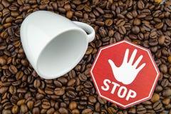 Kaffeeherz und -zirkulation stockfotos