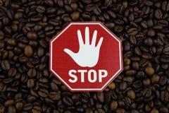 Kaffeeherz und -zirkulation lizenzfreie stockfotografie