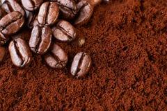 Kaffeehintergrund Lizenzfreies Stockbild