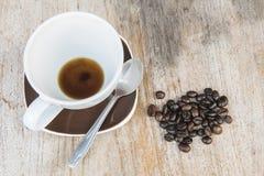 Kaffeehintergrundholz Lizenzfreies Stockbild