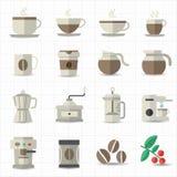 Kaffeeikone Lizenzfreie Stockfotografie