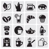 Kaffeeikonen lizenzfreie abbildung