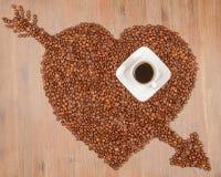 Kaffeeinneres vektor abbildung