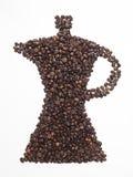 Kaffeekanne und Startwert für Zufallsgeneratorkaffee Lizenzfreie Stockfotografie