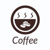 Kaffeekonzept durch Gebrauchsbraunfarben und Bodenweiß Lizenzfreie Stockbilder