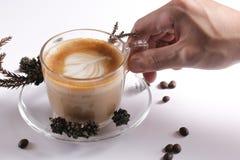 Kaffeekonzept für Design und Anzeige stockbilder