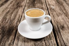 Kaffeekonzept - Schale Espresso crema stockfotos