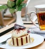 Kaffeekuchen Lizenzfreies Stockfoto