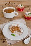 Kaffeekuchen, Muffins mit Kaffeearoma Lizenzfreies Stockfoto