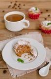 Kaffeekuchen, Muffins mit Kaffeearoma Lizenzfreie Stockfotografie