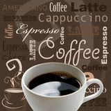 Kaffeekunst Stockfoto