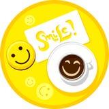 Kaffeelächeln Stockfotografie