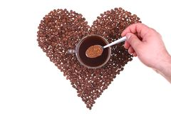 Kaffeeliebe Stockfoto